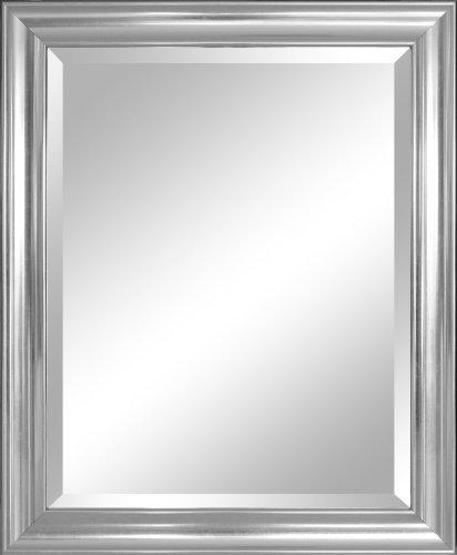 Alpine Mirror Art Beveled Crackled Silver