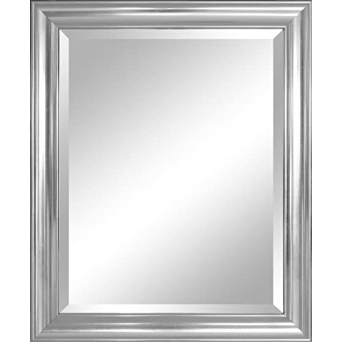 Alpine Mirror U0026 Art 30413 Wall Mirror, Silver