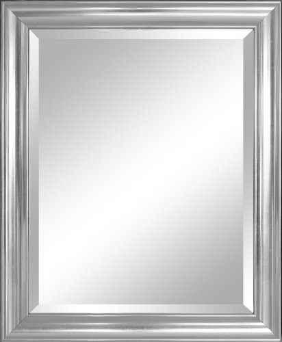 Alpine Mirror & Art Beveled Mirror, Crackled - Mirrors Framed Silver