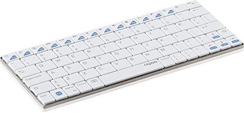 Rapoo e6300 Bluetooth QWERTY holandés Blanco Teclado para ...