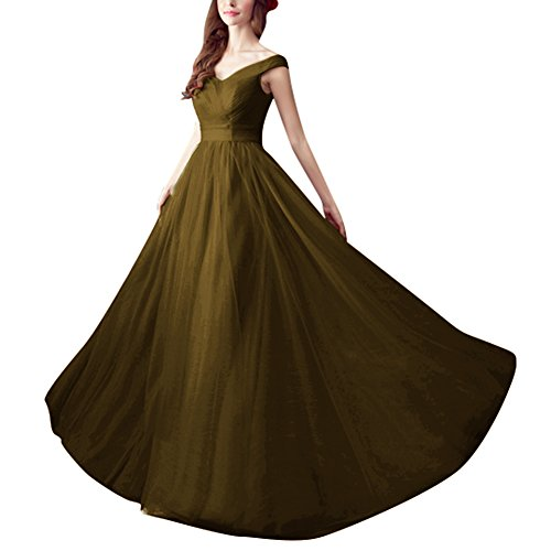 S Pleated Brown H Prom Elegant A Dresses Long Gowns Women's Bridesmaid Line D O0dW0q