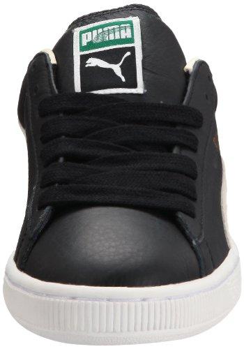 Puma Basket Classic - zapatillas bajas de cuero hombre, Negro/Blanco (Noir/Blanc), talla 41 EU