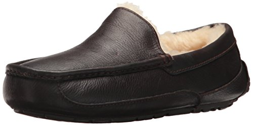 UGG Australia Men's Ascot Leather Slippers, 10, China Tea by UGG