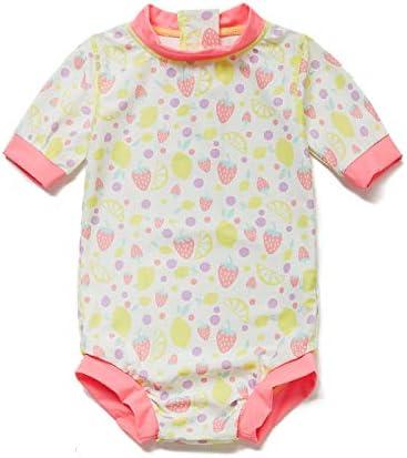 [BONVERANO] 水着 ラッシュガード UPF50+ UVカット 女の子 半袖 0~3歳 ワンピース