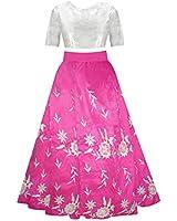 Sky World Girl'S Banglori Silk Embroidery Semi-stitched Lehenga Choli (8-12 Yrs) (World_570)