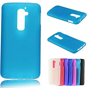 Voberry New Arrival Matte TPU Silicone Gel Back Case Cover for LG G2 D802 (SkyBlue)