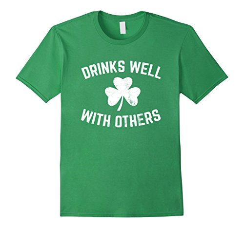 Funny St Patricks Day Drinking Shirt Drinks Well With -