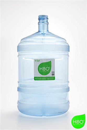 H8O Polycarbonate 5 Gallon Water Bottle (With Handle) with 55mm Crown (Blue Polycarbonate Water Bottle)