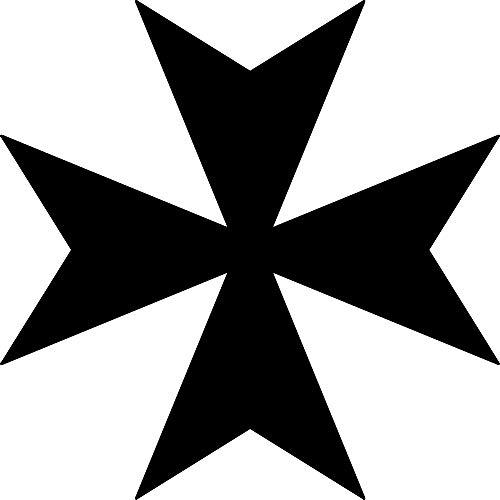 - ANGDEST Maltese Cross Silhouette Funny (Black) (Set of 2) Premium Waterproof Vinyl Decal Stickers for Laptop Phone Accessory Helmet Car Window Bumper Mug Tuber Cup Door Wall Decoration