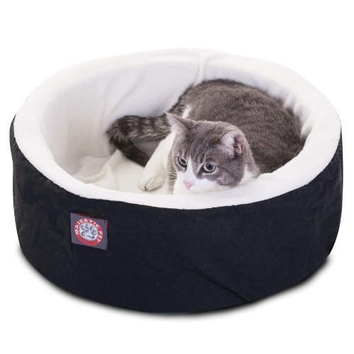 16 inch Black Cat Cuddler Pet Cat Bed By Majestic Pet Produc