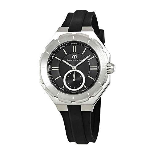 TechnoMarine Women's TechnoMarine Black Silicone Band Steel Case Swiss Quartz Analog Watch TM-118002