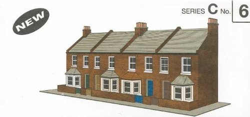 (Superquick C6 Four Red Brick Terraced Fronts)