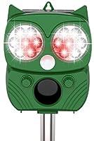 【令和2年進化版】猫よけ 動物撃退器 害獣撃退器 超音波 ソーラー&USB充電式 警報音/強光と超音波で撃退 14LED搭載 10時間連続使用可 PIR赤外線センサー 強力フラッシュライト IP66防水 5モード 猫よけグッズ...