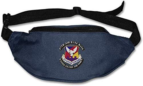 第87空軍基地の翼ユニセックスアウトドアファニーパックバッグベルトバッグスポーツウエストパック