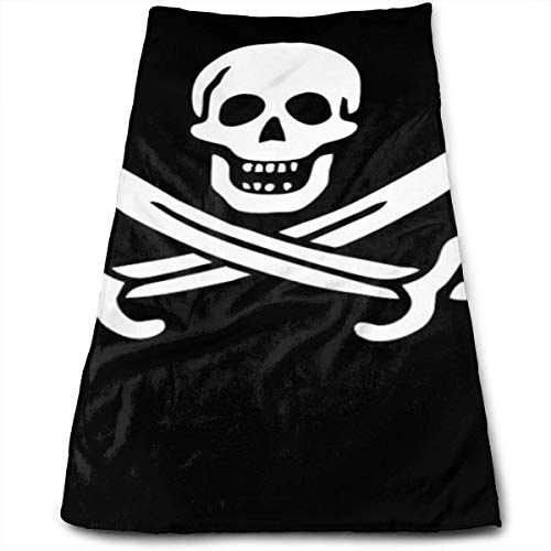 Danger Pirate.jpg Multi-Purpose Microfiber Towel Ultra Compact Super Absorbent and Fast Drying Sports Towel Travel Towel Beach Towel Perfect for Camping, Gym, Swimming.
