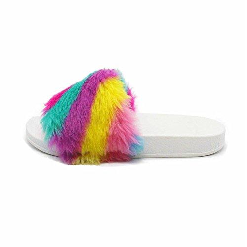 Mules Coloré Plage Plates Tongs Lalang Sandales Femme Chaussures Claquettes De 8q6zw60n