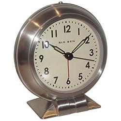 Westclox Big Ben Classic Alarm Clock White Quartz Movement Metal Bezel 1 Aa Battery