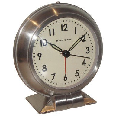 (Westclox Big Ben Classic Alarm Clock White Quartz Movement Metal Bezel 1 Aa Battery)