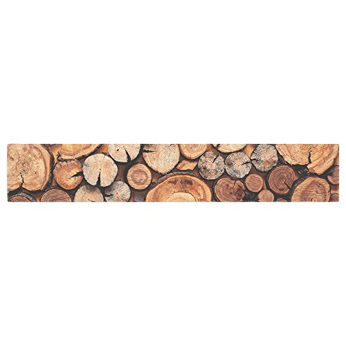 KESS InHouse Susan Sanders ''Rustic Wood Logs'' Brown Tan Table Runner, 16'' x 90'' by Kess InHouse (Image #4)