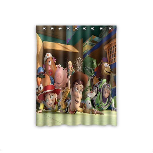 "Cartoon Toy Story Insulated Blackout Kids Window Curtains 52 ""x 63"" Inch Home Decoration"