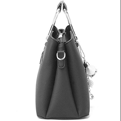 Shoulder Shoulder Women's Bag Bag Shoulder Leather Shopping Bag Fashion Grey Bag Handbag Handbags Bags Handbag Women's Bags Women Women Tote Clutches Bag Bag qwEF66