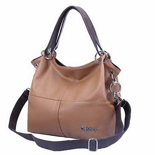 Women's Brown Travel Shoulder Casual Bags Crossed Agoolar Bags Zips FpHndWzFq