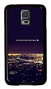 City Night 2 PC Black Hard Case Cover Skin For Samsung Galaxy S5 I9600