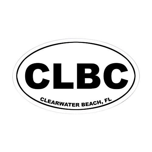 CafePress - CLBC (Clearwater Beach) Oval Sticker - Oval Bumper Sticker, Euro Oval Car - Clearwater You Fit Fl