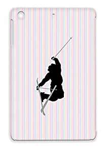 Snow Skier Vector Skid-proof Sports Vector Winter Skiing Snow Skier Ski For Ipad Mini Gray Cover Case