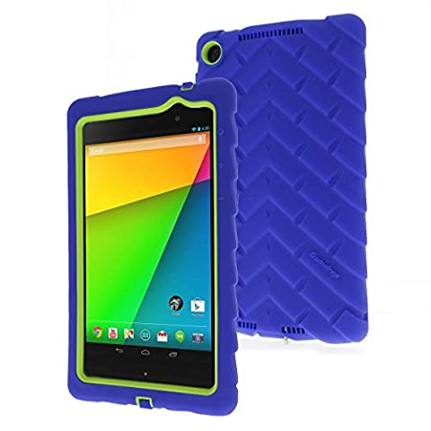 Google Nexus 7 (2013) Drop Tech Blue Gumdrop Cases Silicone Rugged Shock Absorbing Protective Dual Layer Cover (Nexus 7 Case 2013 Rugged)