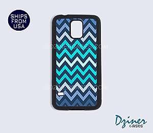 Galaxy S5 Case - Blue Aqua Chevron by mcsharks
