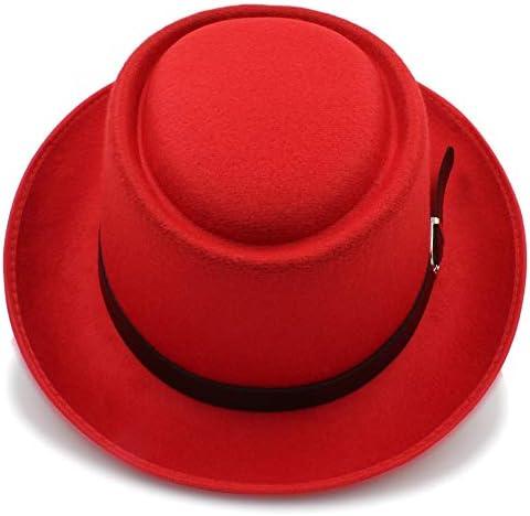 KKONION Wool Women Men Fedora Hat for Lady Winter Autumn Floppy Cloche Wide Brim Jazz Caps Size 56-58CM