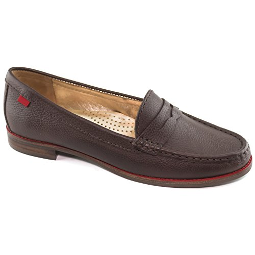 Marc Joseph New York Women's East Village Brown Grainy Penny Loafer 7