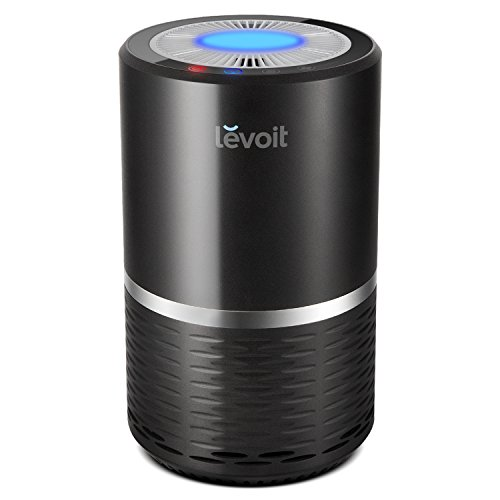 Price comparison product image LEVOIT Air Purifier Filtration with True HEPA Filter, Compact Odor Allergies Allergen Eliminator Cleaner for Room, Home, Pets, Smokers, Cooking, Night Light, LV-H132 (Black)