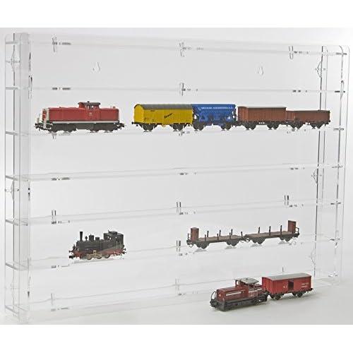 SORA Modèle chemin de fer échelle 00 / H0 Vitrine de protection avec panneau arrière transparent