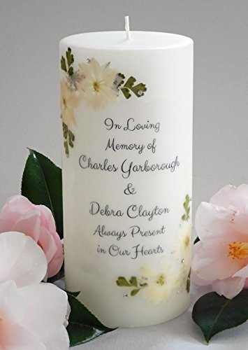 (White Linen Personalized 3x6 Memorial)