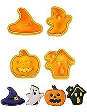 fdsfa Halloween kakform, söt halloween 3D kex form stämpel, hem gör-det-själv halloween fondant form, halloween tema kakskärare för bakning av pumpa, sinne, häxhatt