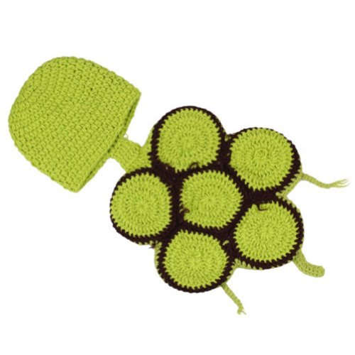 Dealzip Inc Fashion Unisex Newborn Boy Girls Crochet Knitted Baby Outfits Costume Set Photography Photo Prop-Tortoise