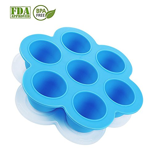 Silicone Egg Bites Molds for Instant Pot Accessories,Food Freezer Trays Ice Cube Trays Silicone Food Storage Containers With Lid,Fits Instant Pot 5,6,8 qt Pressure Cooker,BPA Free