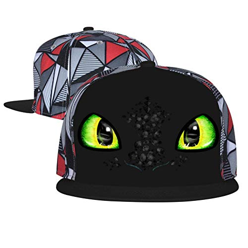 Tooth-Less Dragons Eyes Unisex Adjustable Baseball Cap Flat Hip Hop Hats Trucker Sun Caps Black]()