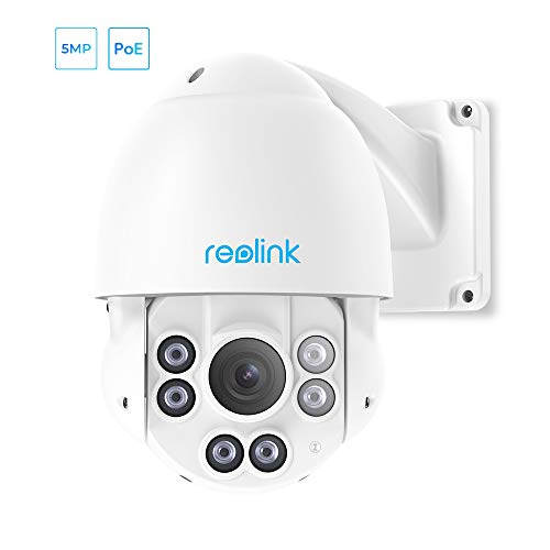 REOLINK PTZ Camera 5-Megapixels 360° Pan 90° Tilt 4X Optical Zoom PoE Outdoor Security Work with Google Assistant, Night Vision...