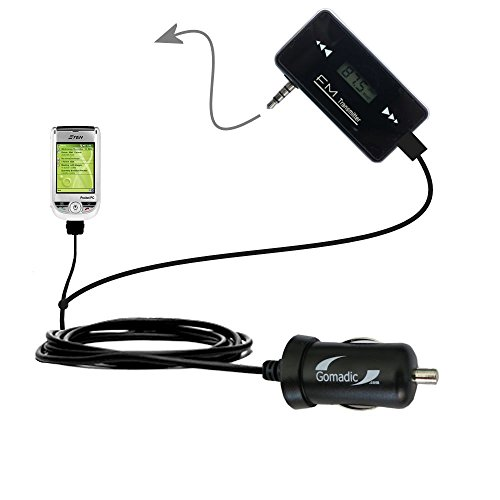 3rd Generation Powerful Audio FM Transmitter with Car Charger suitable for the ETEN M500 - Uses Gomadic TipExchange Technology
