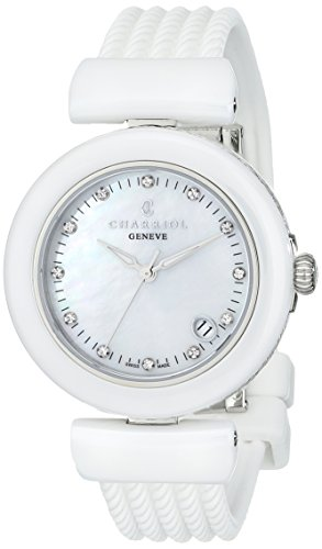 Charriol AEL Ladies White Ceramic Diamond Watch AE33CW.17...