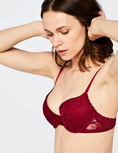 Push Red Donna Lilly Up Rosso Beet amp; in Iris Reggiseno Pizzo pSwFf