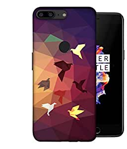 ColorKing OnePlus 5T Case Shell Cover - Paper birds 004 Multi Color