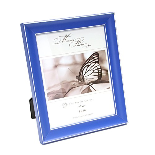 Maxxi Designs Photo Frame with Easel Back, 4 x 6, Blue Rainbow