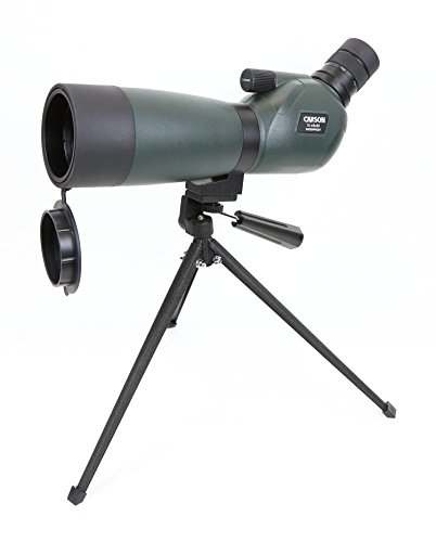 Carson Everglade HD Waterproof Spotting Scope with Table-Top Tripod, 15-45x60mm, Green by Carson