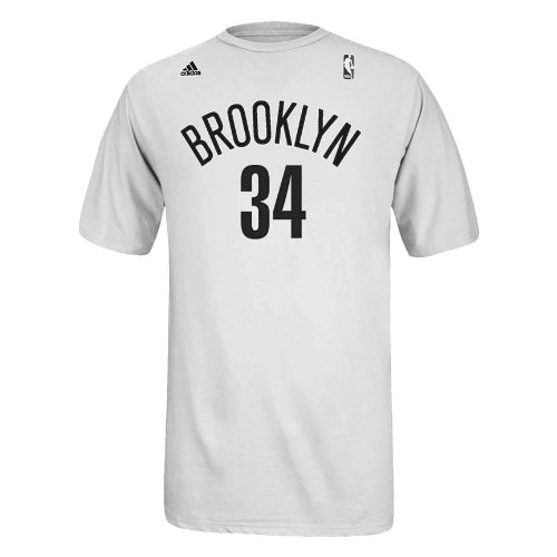 Paul Pierce Brooklyn Nets White Jersey Name and Number T-shirt XX-Large