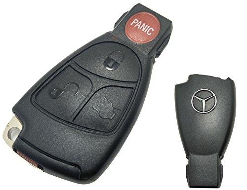 Horande Replacement Car Key Fob Case Fit for Mercedes Benz E C R CL GL SL CLK SLK Entry Smart Remote Control Key Fob Cover 3+1 Button No -