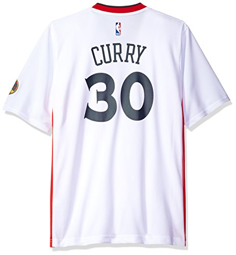 NBA Men's Golden State Warriors Stephen Curry Replica Player Stretch Jersey, Small, (Replica Nba Jersey)